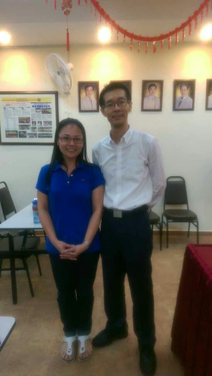 with student